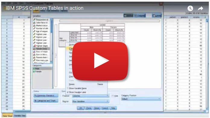 IBM SPSS Custom Tables in action